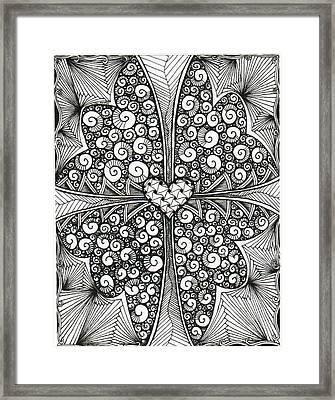 Butterfly Love Framed Print