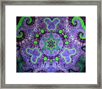 Butterfly Mandala Framed Print by Carl McClellan