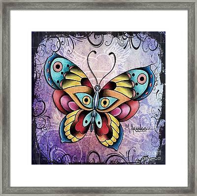 Butterfly Framed Print by Maria Arango