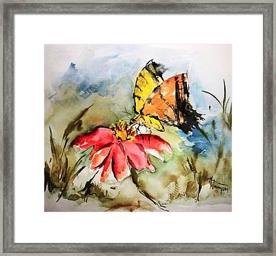 Butterfly   Framed Print by Mary Spyridon Thompson