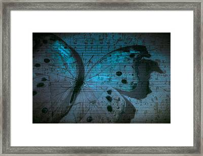 Butterfly Midnight Symphony Framed Print