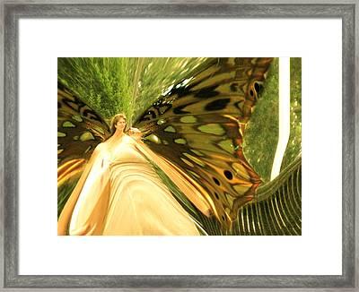 Butterfly Model Framed Print