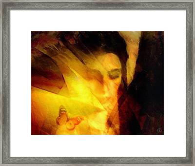Butterfly Moment Framed Print by Gun Legler