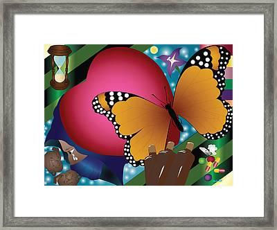 Butterfly Monk Framed Print