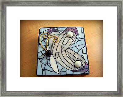 Butterfly Mosaic Framed Print by Melissa McIntyre