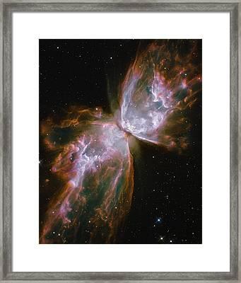 Butterfly Nebula Framed Print by Nasa