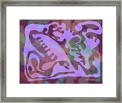 Butterfly Path Through A Garden Framed Print by Cathy Peterson