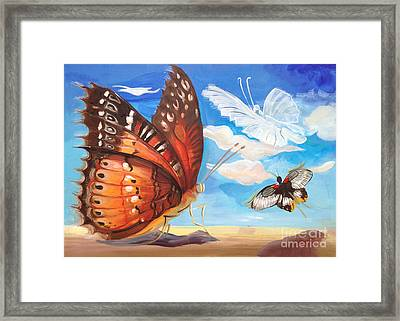 Butterfly Paysage 2 Framed Print