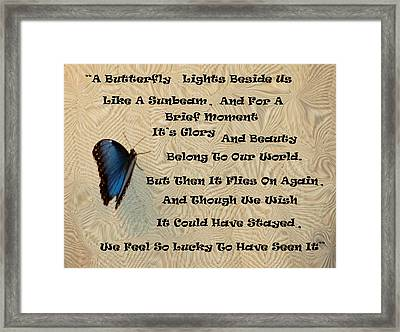 Butterfly Poem Framed Print