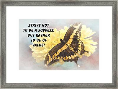 Butterfly Quote Framed Print