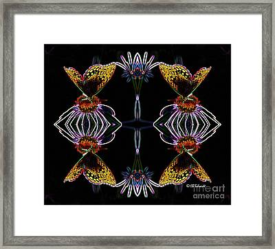 Framed Print featuring the digital art Butterfly Reflections 10  - Great Spangled Fritillary by E B Schmidt