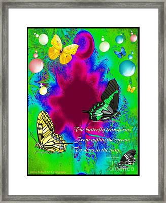 Butterfly Shows The Way Framed Print