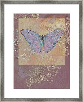 Butterfly Somewhere Framed Print by Alixandra Mullins