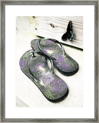 Framed Print featuring the photograph Butterfly Summer by Angela DeFrias