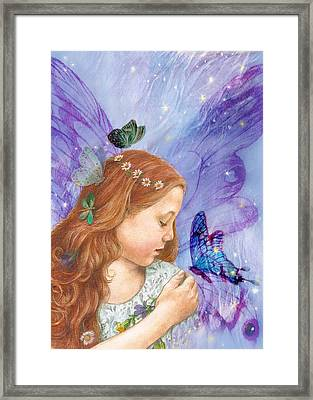Butterfly Twinkling Fairy Framed Print