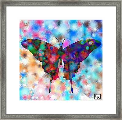 Butterfly Watercolor Print By Rr Framed Print