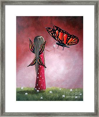 Butterfly Whisperer By Shawna Erback Framed Print by Shawna Erback