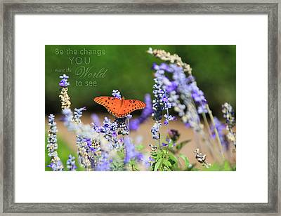 Butterfly With Message Framed Print
