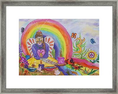 Butterfly Woman Healer I Am Framed Print