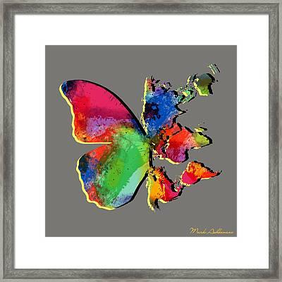 Butterfly World Map 2 Framed Print by Mark Ashkenazi