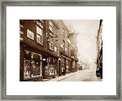 Buttermarket Street Warrington England Framed Print by The Keasbury-Gordon Photograph Archive