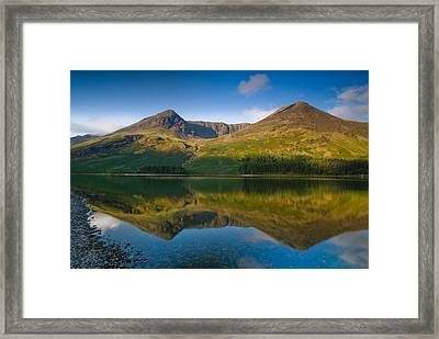 Buttermere Reflection Lake District Framed Print by David Ross