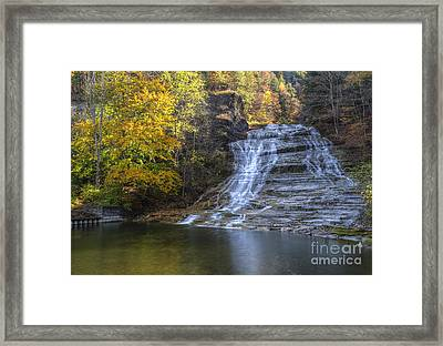 Buttermilk Falls Autumn Framed Print by Colin D Young