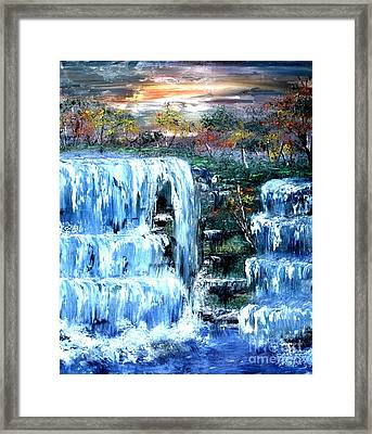 Buttermilk Falls Framed Print