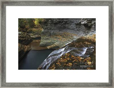 Buttermilk Falls In Autumn I Framed Print by Michele Steffey