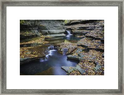 Buttermilk Falls In Autumn II Framed Print by Michele Steffey