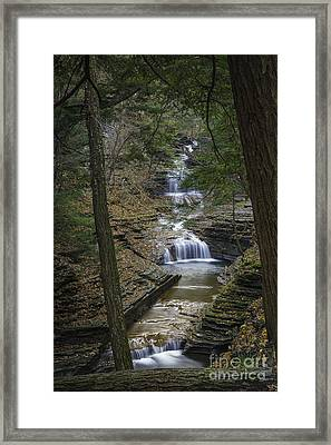 Buttermilk Falls In Autumn IIi Framed Print by Michele Steffey