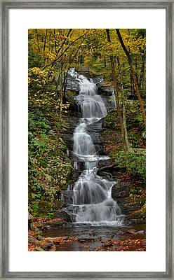 Buttermilk Falls In Autumn Framed Print by Stephen  Vecchiotti