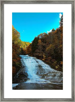 Buttermilk Falls Ithaca New York Framed Print by Paul Ge
