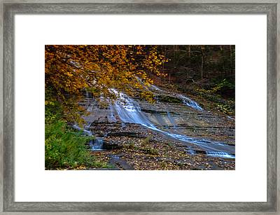 Buttermilk Falls Framed Print by Karen Regan