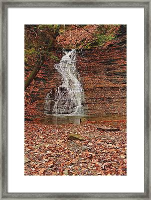 Buttermilk Falls Framed Print by Marcia Colelli