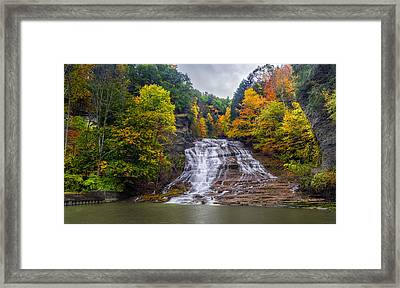 Buttermilk Falls Framed Print by Mark Papke