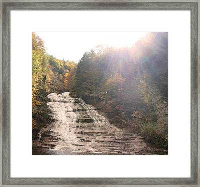 Buttermilk Falls State Park Framed Print by Silvana Marmango