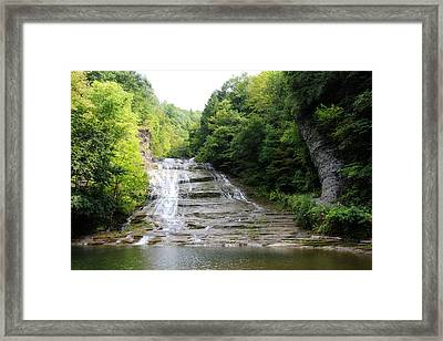 Buttermilk Falls Framed Print by Trina  Ansel