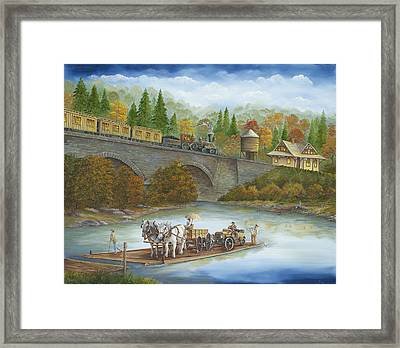 Buttermilk Falls With Ferry Framed Print by Carol Angela Brown