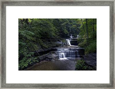 Buttermilk Waterfalls Framed Print by David Simons