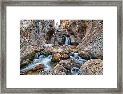 Buttermilks Waterfall Framed Print