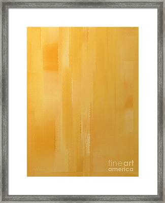 Butterscotch Framed Print by Andee Design