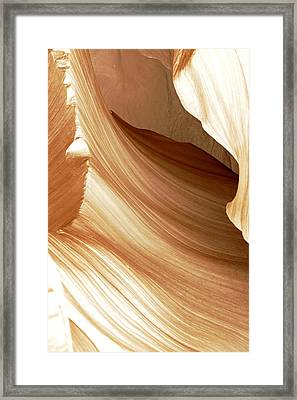 Butterscotch Taffy Antelope Canyon Framed Print