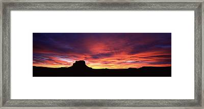 Buttes At Sunset, Chaco Culture Framed Print