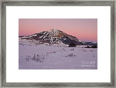 Butte's Winter Glow Framed Print