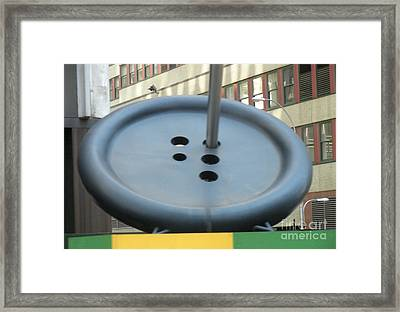 Framed Print featuring the photograph Button Button by Luther Fine Art