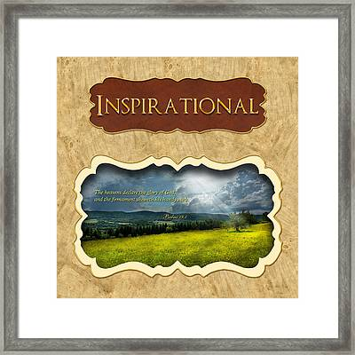 Button - Inspirational Framed Print