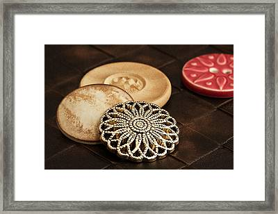 Button Still Life Framed Print by Tom Mc Nemar