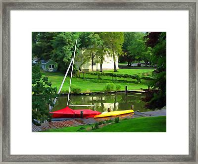 Buttoned Up Framed Print by Dana Sohr