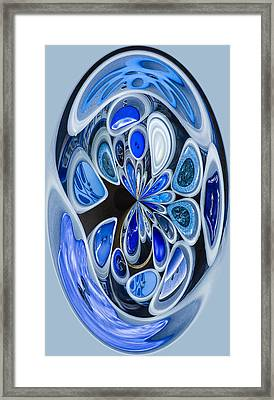 Buttons Up Framed Print by Jean Noren